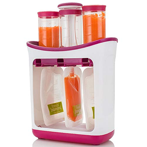 ZXLIFE@@ Kinder-Püree-Squeezer, Babynahrungsergänzungsmaschine Kinder-Nahrungsmittelpresse-Spender