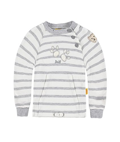 Steiff Collection Jungen Sweatshirt Sweatshirt 1/1 Arm, Gr. 74, Grau (Softgrey melange 8200)