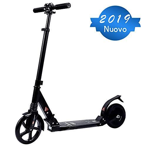 Doogoo Monopattino Elettrico, Pieghevole Manubrio Regolabile Scooter velocità Massima 18km/h, Autonomia 12km,8'' Pneumatici per Adulto, Adolescenti e Bambini