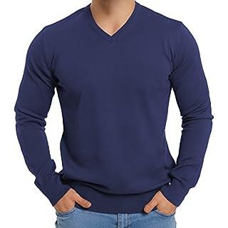Celodoro Exclusive Herren V-Neck Pullover Blue Indigo-3XL