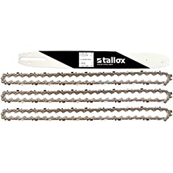 """3 tallox chaînes de tronçonneuses et 1 guide-chaînes 3/8"""" 1,3 mm 50 maillons longueur de guide-chaîne 35 cm compatible avec Stihl"""