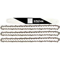 """tallox 1 Espada y 3 Cadenas de Sierra 3/8"""" 1,3 mm 50 eslabones 35 cm Compatible con Stihl"""