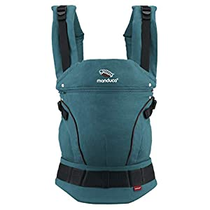 manduca First Baby Carrier > HempCotton Petrol Blue - Brown < Ergonomic Baby & Child Carrier, Soft & Sturdy Canvas (Organic Cotton & Hemp), Front, Hip & Back Carry, for Newborn to Toddlers up to 20kg   7