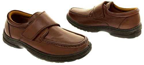 Classics Hommes Cuir Synthétique Chaussures Velcro Marron