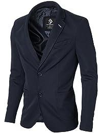 MODERNO Slim Fit Freizeit Baumwolle Herren Sakko Blazer (MOD14522B)