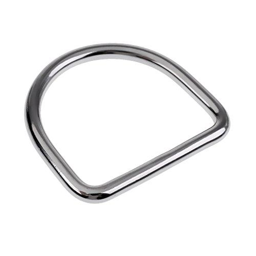 MagiDeal Tauchgewichte, -gürtel Zubehör Edelstahl Bleigurt Bleigürtel Riemen D-Ring Für 5cm Gurtband, Gürtel Schnalle