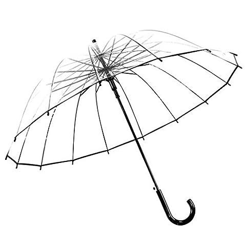 GT Umbrella Automatic Fashion Transparent, Straight bar, Thick EVA fabric Semi-automatic umbrella Rain Umbrella Sturdy Windproof Anti-UV Sunscreen Umbrella