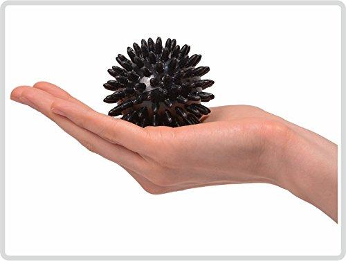 Igelball Igel-Ball Noppenball Massageball, ø 7 cm Farbe: schwarz *Top-Qualität zum Top-Preis*