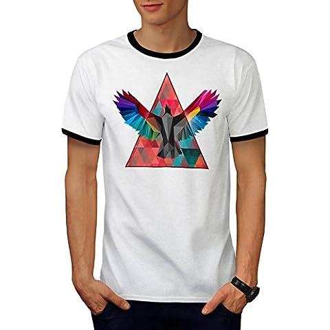 Géométrique Oiseau Mode Oiseau Vol Men M T-shirt à sonnerie | Wellcoda