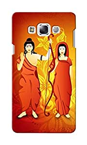 CimaCase Lord Ram & Sita Designer 3D Printed Case Cover For Samsung Galaxy E7