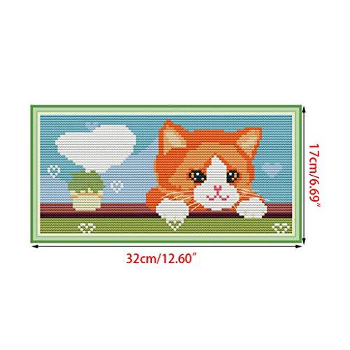 MIKI-Z Liebe Herz Katze DIY Handarbeit Handarbeit gezählt 11ct 14ct gedruckt kreuzstich Stickerei kit Set Dekoration -