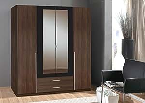 Wardrobe German made Wimex 4 Doors in Walnut Wardrobe Sale 7 star Furniture