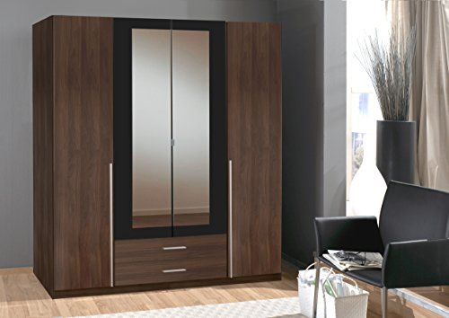 Wardrobe German made Wimex 4 Doors in Walnut Wardrobe Sale 7 star Furniture