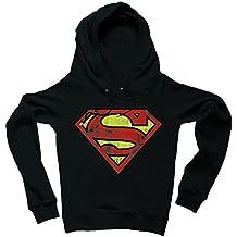 DC Comics - Superman Logo Sudadera raglan con capucha - Suéter raglan con capucha - Azul oscuro - Diseño original con licencia – LOGOSHIRT