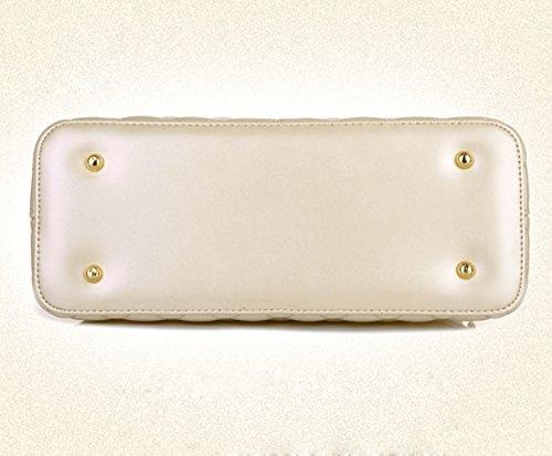Molly Da Donna Diamante Modello Puro Colore PU Borsetta La Spalla Diagonale Borsa Beige Piccolo