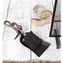 In stile antico in rame con manico pala e pennello set–insolito tradizionale set camino pinze per legna e carbone brucia camini, stufe e caminetti–ideale regalo natalizio–Great Anniversary present–H10/pala L37/spazzola L26CM