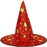 Prettyia Cappello da Strega per Bambini Cappello A Punta di Streghe Costume  da Carnevale Colorato di 9a6ea6d40f83