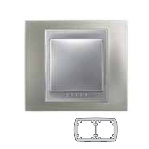 Nickel-matt-rahmen (Schneider Electric u66.004.039 Rahmen Top 2 Elemente, Nickel matt)