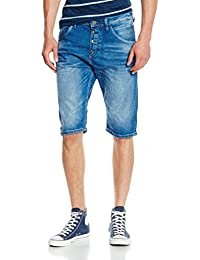Tom Tailor Denim Anti Fit Blue Bermuda, Jeans Homme