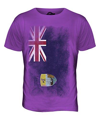 CandyMix St. Helena Verblichen Flagge Herren T Shirt Violett