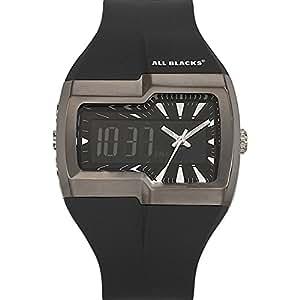 All Blacks - 680129 - Montre Homme - Quartz Analogique - Digital - Cadran Noir - Bracelet Plastique Noir