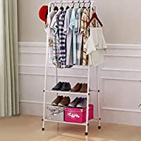 Quieting Clothes Rail Rack Garment Dress Hanging Coat Hat Display Stand Shoe Rack Storage Shelf