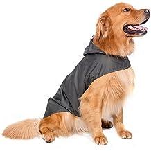 BPS® Chubasqueros Impermeables para Mascotas Perros, Impermeables con Capucha para Perro Mediano y Grande 3 Colores para Elegir con Material 100% Poliéster (Verde Oscuro, 70cm) BPS-9115V