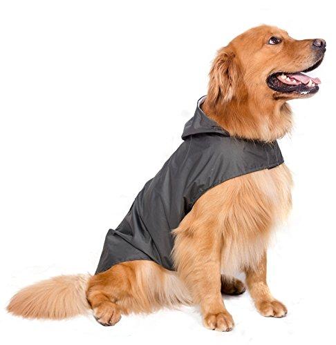 BPS® Ponchos enfants pour animaux de compagnie chiens, imperméable avec capuche pour chien moyen et grand 3couleurs pour choisir Avec matériau 100% Polyester, vert