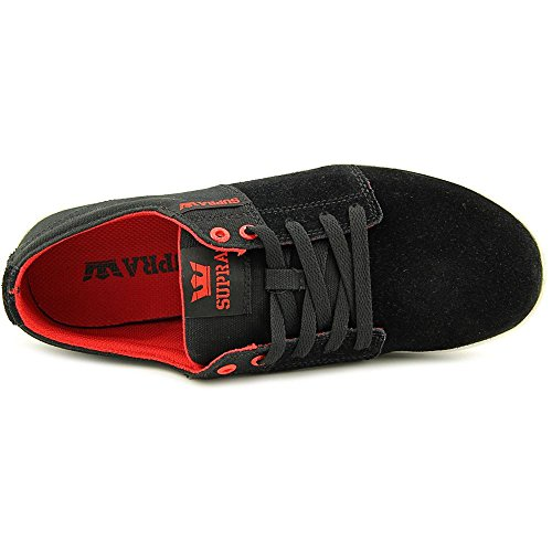 Supra Stacks Ii, Sneakers Basses Mixte adulte Black / red - white