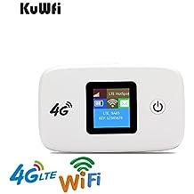 KuWFi Desbloqueado 100Mbps 4G Wifi Router de viaje Router de viaje LTE Mobile Wifi Hotspot Soporte 4G B1/ B3/ B5 Hasta 10 usuarios de Wifi