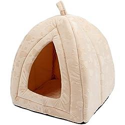 Cueva iglú para mascotas color beige