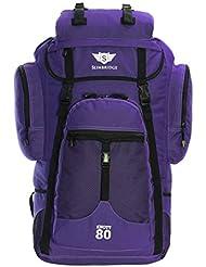 Slimbridge Knott 80 litros mochila XL senderismo, Púrpura