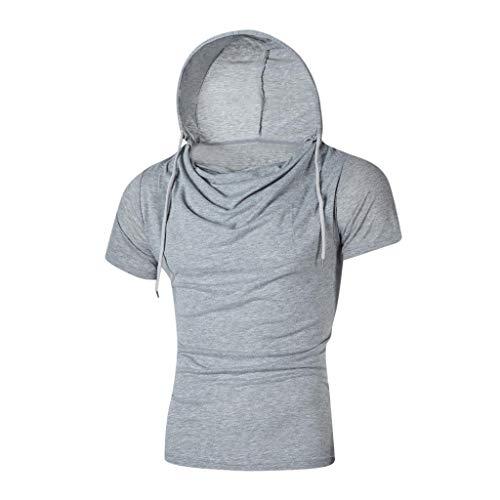 TMOTYE Herren T-Shirt,Stilvolle Persönlichkeit Tops Tees Kurzarm Mann mit Kapuze lässig T-Shirt Machst du Sport? Fitness Running - Roaring 20's Übergröße Flapper Kostüm