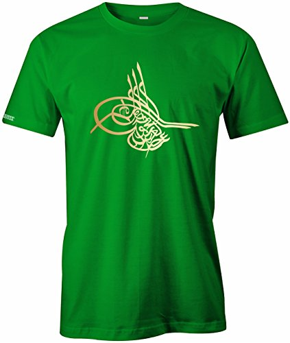 Tugra - Osmanisches Zeichen - Herren T-Shirt in Grün by Jayess Gr. L (T-shirt Die Türkei Grünes)