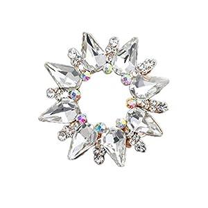 Aisoway Kristallrhinestone-Blumen-Schal-Clip Brosche für Damen