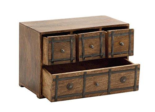 Deco 79Holz Box mit Schublade, 11von 20,3cm, Schwarz Jar-küche Dekor