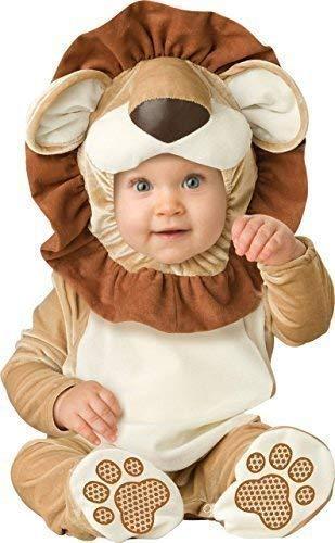 Fancy Me Deluxe Baby Jungen Mädchen Lovable Löwe Dschungelbuch Tag Halloween Charakter Kostüm Kleid Outfit - Braun, 0-6 Months, - Löwe Kostüm Kopfschmuck