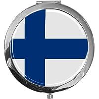 """metALUm - Extragroße Pillendose in runder Form""""Flagge Finnland"""" preisvergleich bei billige-tabletten.eu"""