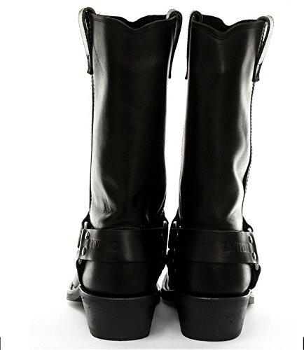 Grinders Nuovi caricamenti del sistema del cowboy di guida nera / marrone di Renegade con il disegno della cinghia della caviglia di tre vie nero Hi