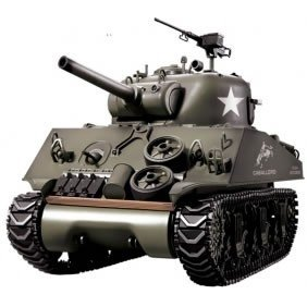 Preisvergleich Produktbild 1/16th M4A3 Sherman Remote Controlled Tank With Smoke and Sound - WITH FREE EXTRA BATTERY WORTH 17.99!!