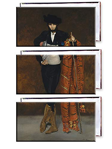 Unified Distribution Édouard Manet - Junger Mann im Kostüm eines Majo - Klassisches Gemälde - Replik auf Leinwand Dreiteiler (120x80 cm) (Da Vinci Kostüm)
