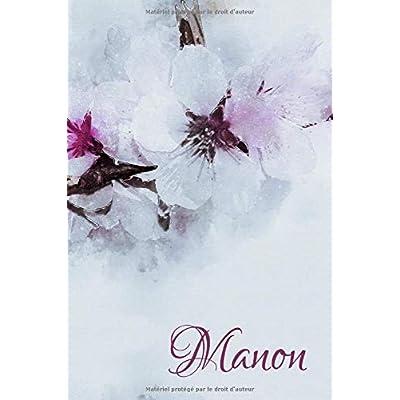 Manon: Un livre pour Manon. Journal intime en motifs de fleurs de cerisier, personnalisé
