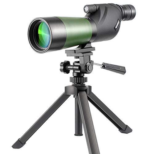 gosky 20-60x 60wasserdicht Spektiv Scope- Porro Prism Spektiv für die Vogelbeobachtung Target Shooting Bogenschießen Range Outdoor Aktivitäten - Smartphone-spotting Scope Mount