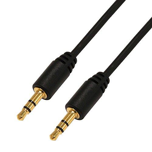 Audiokabel 2m schwarz 2x3,5mm Klinke AUX Kabel Audio Stecker Stereo Autoradio Klinkenkabel - Klinke, Klinken