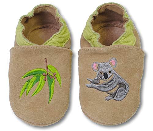 bestickte Krabbelschuhe in verschiedenen Designs von HOBEA-Germany, Größe Schuhe:24/25 (24-30 Mon), bestickte Motive:Koala - Koala Für Baby-schuhe Mädchen