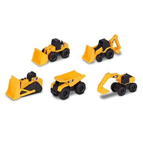 Toy State Cat Vehículo De Obras Públicas Y Construcción Mini Machine 5-Pack (34601)