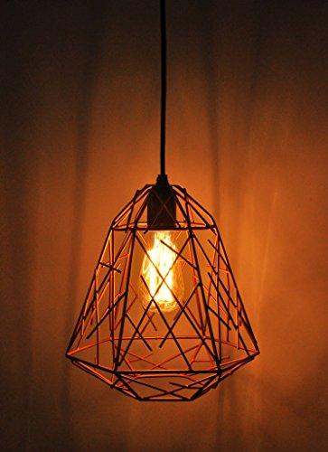Logam Retro Copper Cage Ceiling Light
