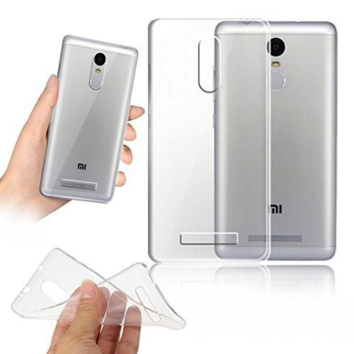 Premsons PS1984 Ultra Thin Clear Transparent Flexible Soft TPU Slim Back Case Cover For Xiaomi Redmi Note 3,(Silver)  available at amazon for Rs.125