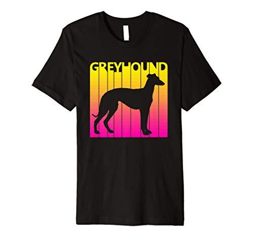 (Retro Greyhound Hund T-shirt Geschenk)