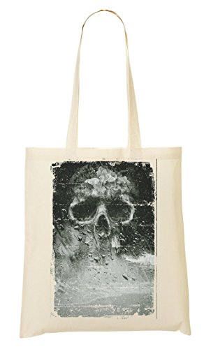 Artistic Skull Death In The Smoke Horror Collection Nice To Tragetasche Einkaufstasche